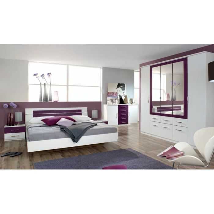 chambre adulte compl te venise iii sans tiroir lit achat. Black Bedroom Furniture Sets. Home Design Ideas