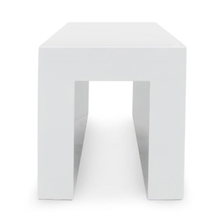 tabouret carr maeva bois laqu blanc achat vente tabouret bois cdiscount. Black Bedroom Furniture Sets. Home Design Ideas