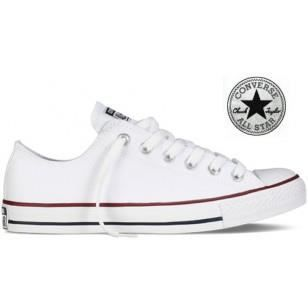 converse basse blanche blanc blanc achat vente basket cdiscount. Black Bedroom Furniture Sets. Home Design Ideas