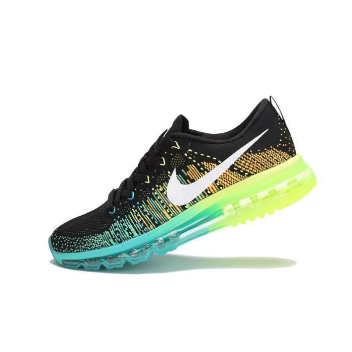 nike flyknit air max noir turbo vert noir turbo achat vente basket cdiscount. Black Bedroom Furniture Sets. Home Design Ideas