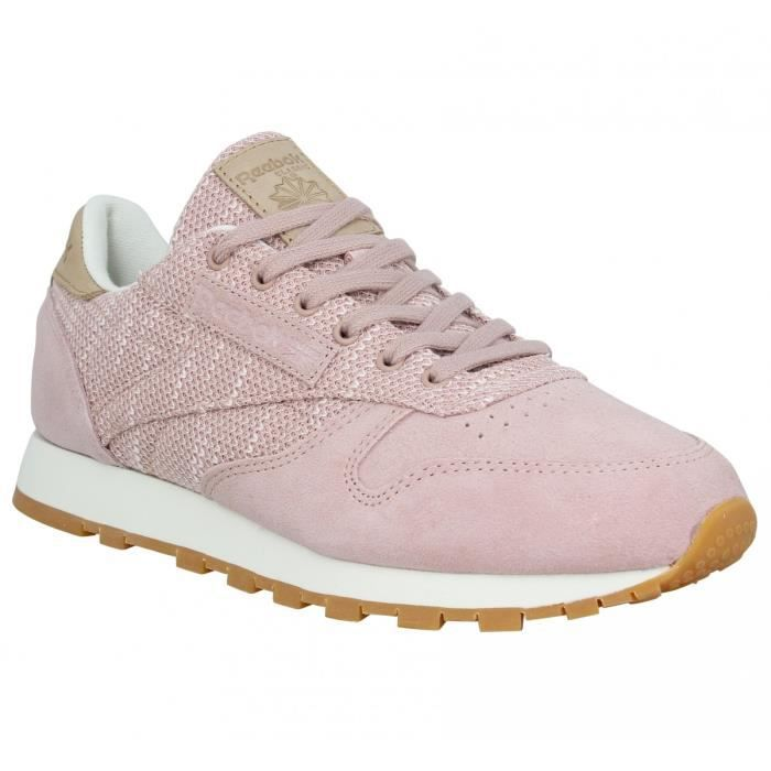 f59dbfe530f61 Baskets REEBOK Classic Leather velours toile Femme-35-Rose Rose Rose ...