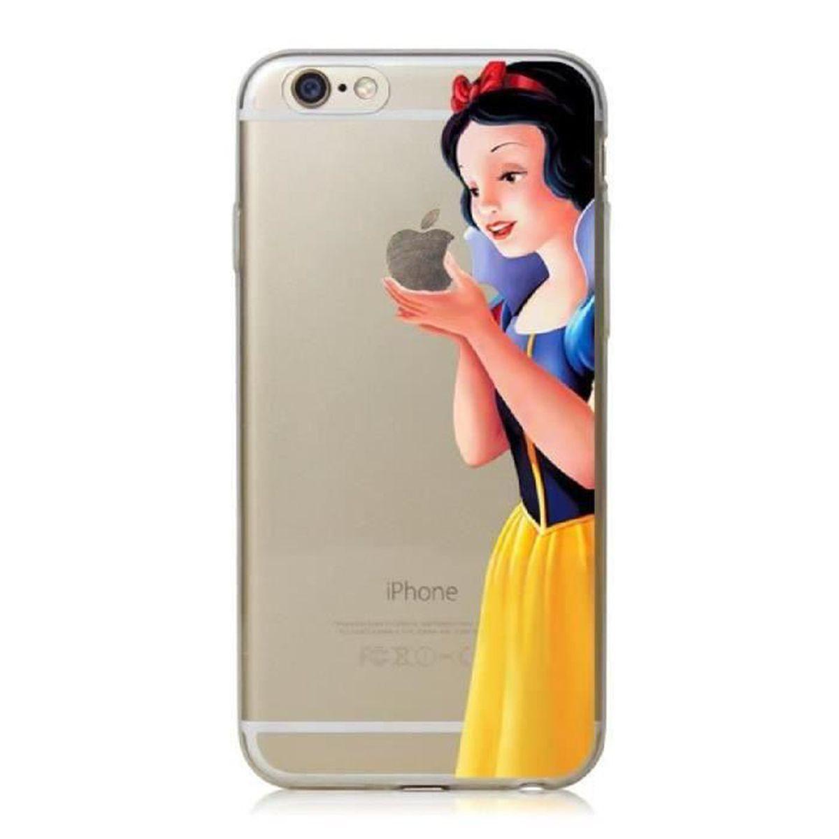 coque iphone 5c blanche neige dessin anime silicon