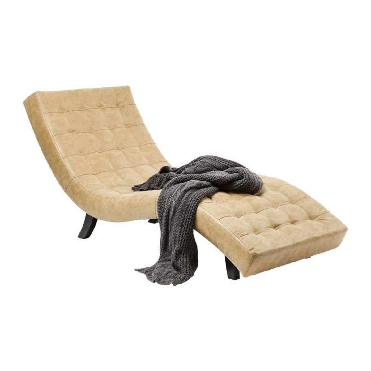 chaise longue slumber terra kare design achat vente chaise cdiscount. Black Bedroom Furniture Sets. Home Design Ideas