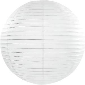 LANTERNE FANTAISIE Lanterne en papier chinois boule deco Blanc - Coul