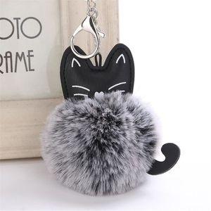 PORTE-CLÉS porte-clés de boule de poils de chat mignon @ta314