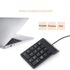 CLAVIER D'ORDINATEUR Clavier numérique noir de mini clavier USB pour l'