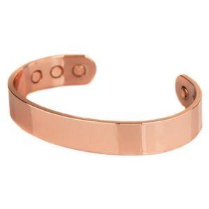 Bracelet femme nouveau Cuff Link Cuivre Magnétique Bio Douleur Thérapie Guérison Bracelet