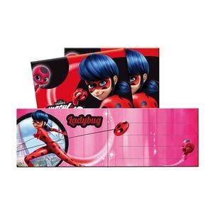 KIT DE DECORATION 6 Cartes d'invitations Miraculous Ladybug + envelo