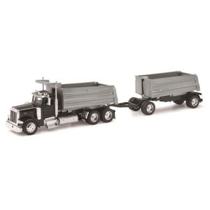 VOITURE - CAMION NEW RAY  Camion PETERBILT Double Benne - Miniature