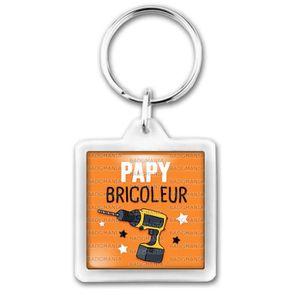 PORTE-CLÉS Porte-Clés Carré Plastique Papy Bricoleur - Perceu