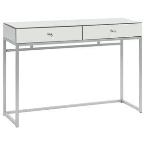 TABLE BASSE Table console miroir Acier et verre 107 x 33 x 77