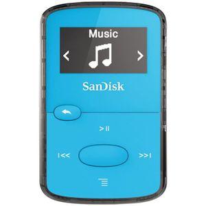 LECTEUR MP3 SANDISK CLIP JAM Lecteur MP3 8Go Bleu