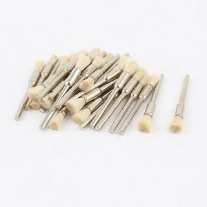 CAROTTEUSE Poils Blancs Pour Mandrin 3mm-Stylo Brosse De Nett