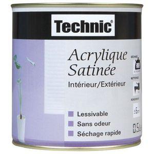 PEINTURE - VERNIS Peinture acrylique satinée - 2.5 L - rose saumon