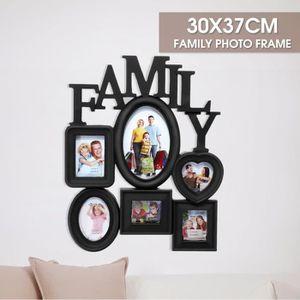 """Cadre photo /""""Family/"""" pour 10 photos noir familles cadre photo"""