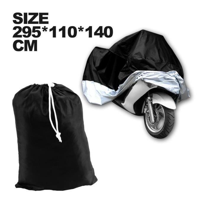 HOUSSE BACHE MOTO Couvre-Moto VTT grande Taille XXXL noir argente protection sportive modele