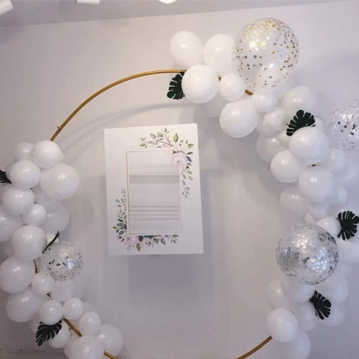 Arche de mariage ronde en mtal dor 1 m Dcoration de fte Arche de ballon Dcoration de porte Amovible et rutilisable[29432]
