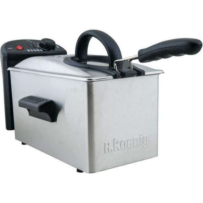 H.KOENIG DFX300 - Friteuse électrique semi-professionnelle - Inox
