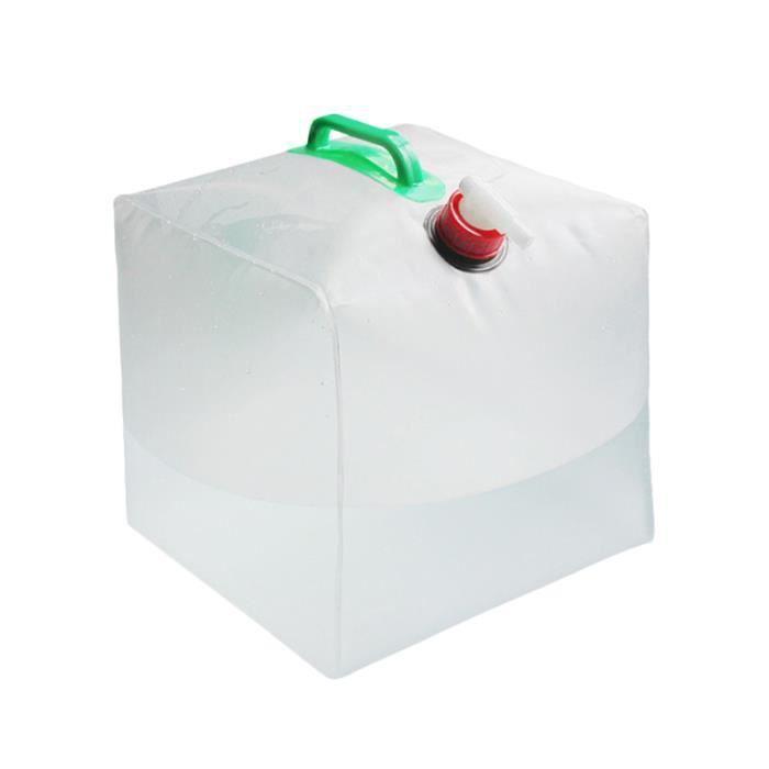 1 Pc pliant seau poignée sac fourre-tout réservoir d'eau poche transparente pour la VEHICLE PERSONALIZATION - VEHICLE DECORATION