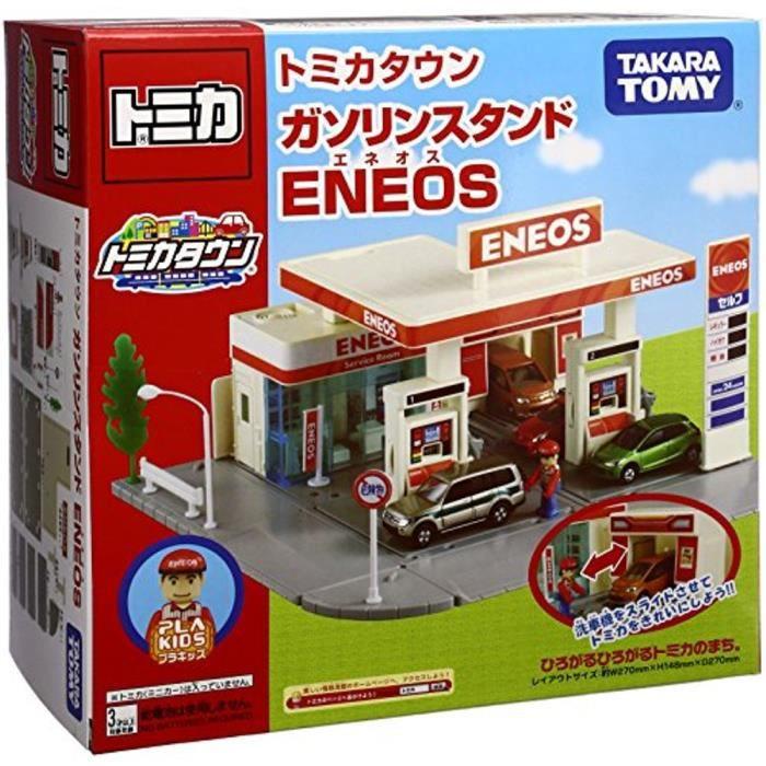 Jouet Tomica Town Station d'essence (de ENEOS) du Japon par Takara Tomy