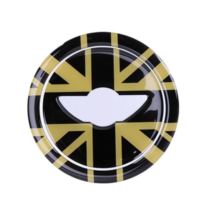 Gold Union Jack -Autocollants de volant de voiture 3D ABS pour Mini Cooper Countryman JCW R55 R56 R60, accessoires de voiture