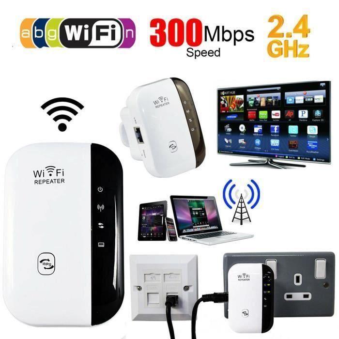 Amplificateur WiFi Repeteur Booster de signal sans fil WiFi extender 300M WLAN