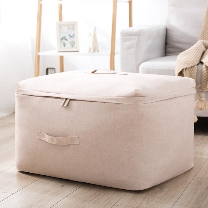 Housse de rangement,Sac de rangement de grande capacité pour vêtements couettes, sac de rangement - Type beige-S about 41x27x21cm
