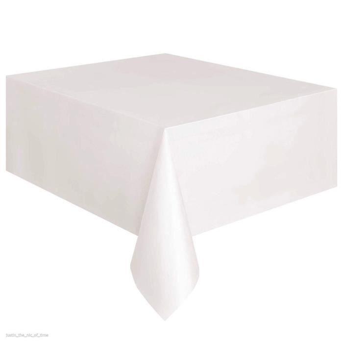 Set Accessoire Cuisine Nappe Anniversaire Couleur Unie Jetable Carrée Blanche Blanc 51