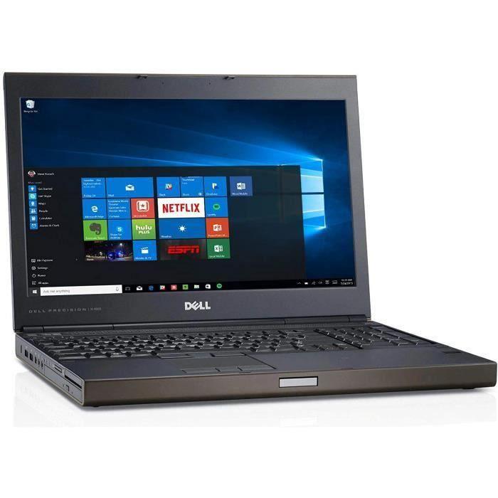 Ordinateur portable DELL PRECISION M4800 15,6- Intel Core i5 - RAM 16 go ram 500Go HDD - Nvidia Quadro K1100M - Windows 10