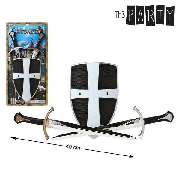 2 Epées avec Bouclier - Accessoires de déguisement chevalier