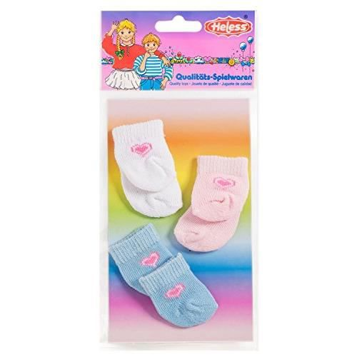 Generic Heless 773Heless Chaussettes pour Petite poupée (3 Paires) 773Heless