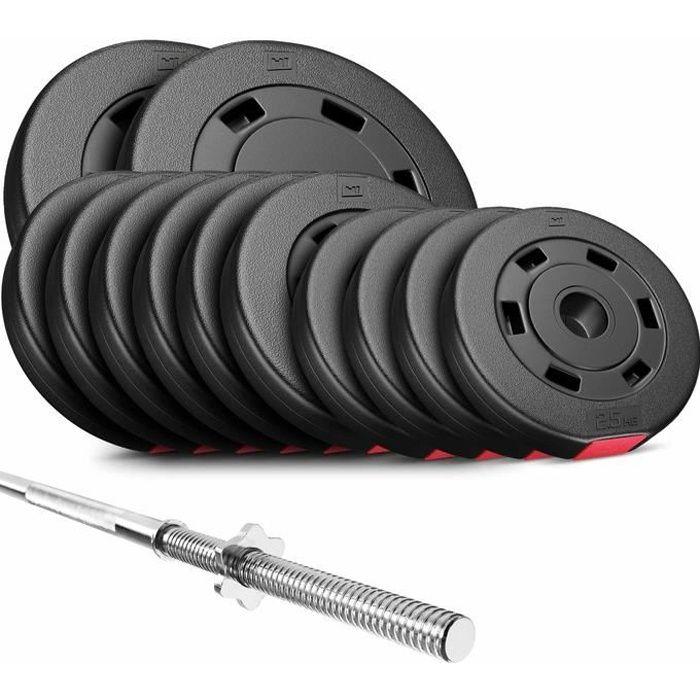 HS Hop-Sport Set PREMIUM de 69kg AB (1x barre 167cm / 2x10kg + 6x5kg + 4x2,5kg)