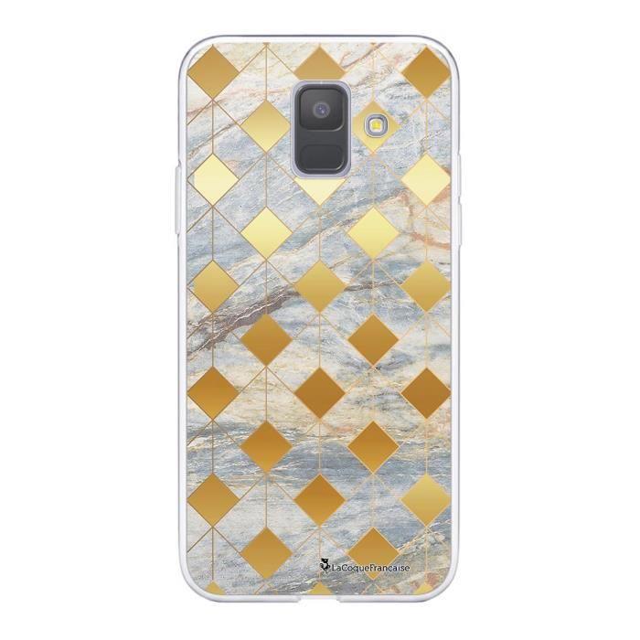 Coque Samsung Galaxy A6 2018 360 intégrale transparente Marbre Losange Ecriture Tendance Design La Coque Francaise