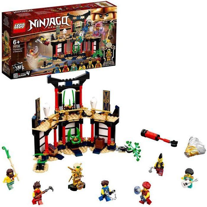 LEGO® NINJAGO® 71735 Le tournoi des éléments, jeu de construction avec arène de combat et figurine de Ninja Lloyd Or à collectionner