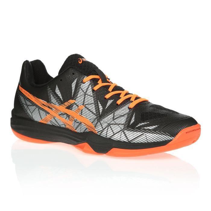 ASICS Chaussures de volley-ball Gel-Fastball 3 - Mixte - Noir et orange