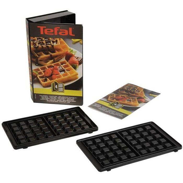 TEFAL Lot de 2 Plaques Gaufres - Snack Collection - XA800412