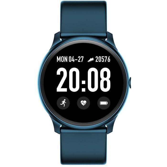 WEE'PLUG Smartfit Montre connectée - Smartwatch élégante - Multisports - Cardio - Bluetooth - Waterproof - Bleu nuit