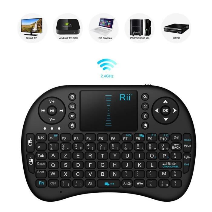 CLAVIER POUR TABLETTE Rii Mini i8 Wireless (AZERTY) - Mini Clavier franç