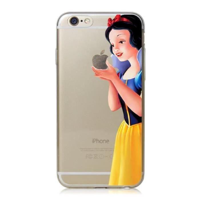 COQUE iPHONE 5C BLANCHE NEIGE DESSIN ANIMÉ SILICONE RIGIDE (TPU)