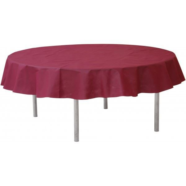 la nappe ronde en intiss couleur bordeaux achat vente nappe de table cdiscount. Black Bedroom Furniture Sets. Home Design Ideas
