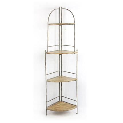 Etag re d 39 angle m tal achat vente meuble tag re - Meuble etagere d angle ...
