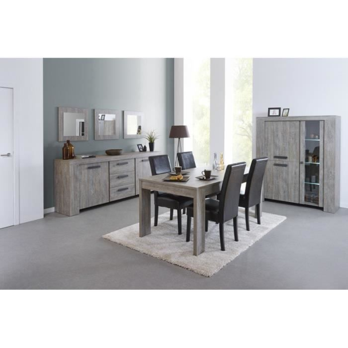 Salle manger compl te rabbi table l 185 x p 92 x h for Salle a manger actuelle
