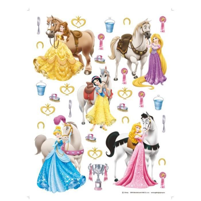 31 stickers g ant chevaux et princesse disney achat vente stickers cdiscount. Black Bedroom Furniture Sets. Home Design Ideas