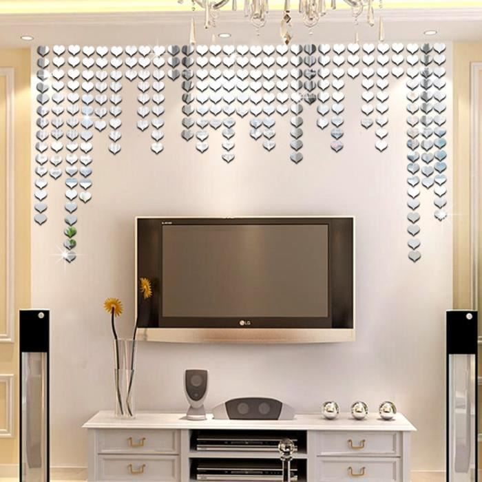 stickers lot de 100 coeur d 39 amour mosa que miroir. Black Bedroom Furniture Sets. Home Design Ideas