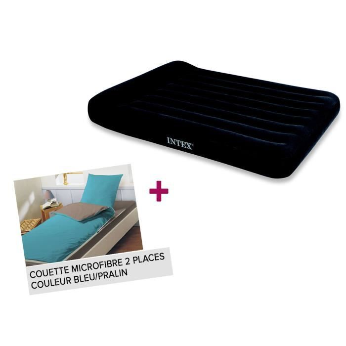 matelas gonflable 2 places intex gonfleur lectrique. Black Bedroom Furniture Sets. Home Design Ideas