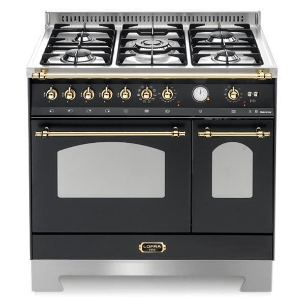 PLAQUE MIXTE LOFRA RNMD96MFTE IC-Matt Black 90X60 AVEC cuisiniè