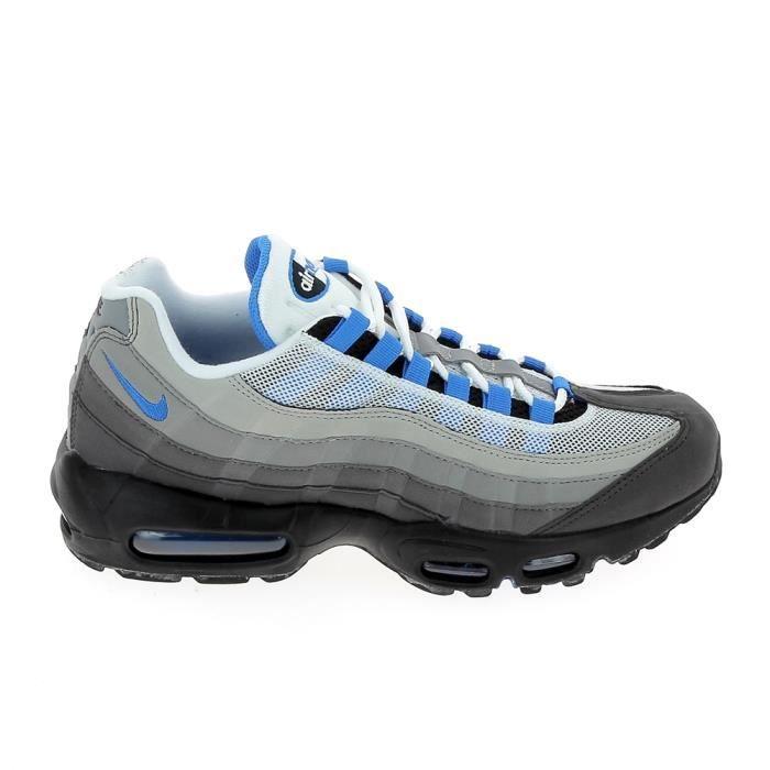 Basket mode - Sneakers NIKE Air max 95 Blanc Bleu AT8696-100 Blanc ...