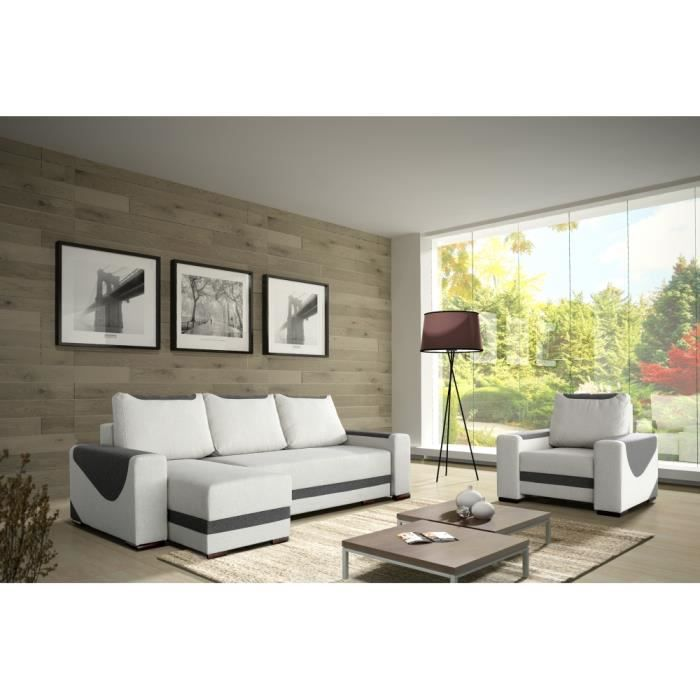 canap lit d 39 angle seressa achat vente canap sofa divan cdiscount. Black Bedroom Furniture Sets. Home Design Ideas
