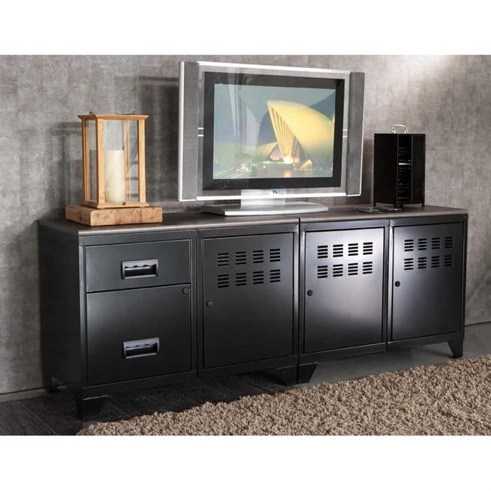 meuble tv modulable en metal achat vente meuble tv meuble tv modulable en metal soldes. Black Bedroom Furniture Sets. Home Design Ideas