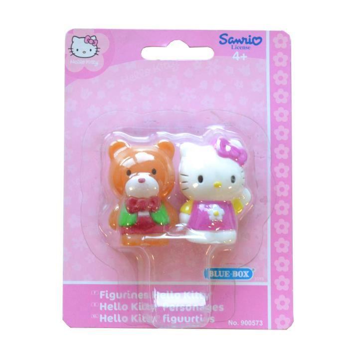 FIGURINE - PERSONNAGE Figurines Hello Kitty : Lot de 2 aille Unique Colo